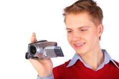 hdv камеры мальчика стоковые изображения rf