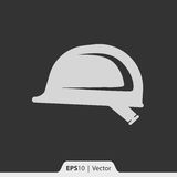 Hełm dla pracownik budowlany ikony dla sieci i wiszącej ozdoby Fotografia Royalty Free
