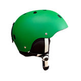 hełm zielona narta fotografia stock