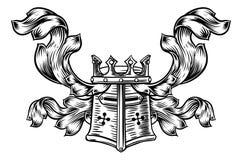 Hełma Heraldyczny grzebień royalty ilustracja
