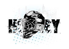 hełma hokeja lód ilustracja wektor