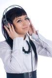 hełmofon kobieta Obraz Royalty Free