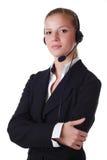 hełmofon kobieta zdjęcie stock