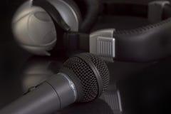 hełmofonu mikrofonu obraz royalty free