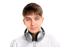 hełmofonu nastolatek obrazy royalty free