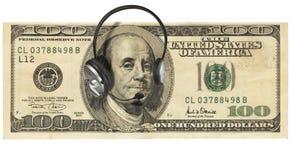 hełmofonu pieniądze zdjęcie stock