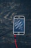 Hełmofonu sznur z telefonem Obraz Stock