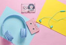 Hełmofony i słuchawki zdjęcie stock