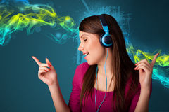 hełmofony target1167_1_ muzykę kobiety potomstwa ilustracji