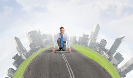 Free He Is Determined To Win Royalty Free Stock Image - 64342896
