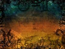 Heacen和地狱不可思议的黑暗的背景 免版税图库摄影