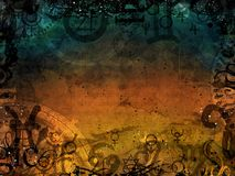 Heacen and hell magic dark background Royalty Free Stock Photography