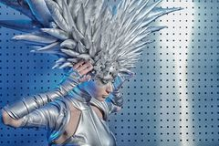 Head. Shot of a futuristic young woman Stock Images