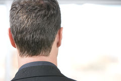 Head. Back of a business mans head stock photography