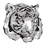 Head abstrakt konst för tiger Arkivbilder