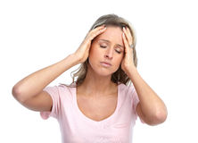 Head ache Stock Image