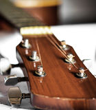 Head of acoustic guitar Stock Images