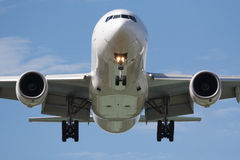 Head on airplane Stock Photography