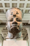 Head of Amenhotep III, The British Museum, London. The head of the statue of Amenhotep III from the temple precinct of Mut, consort of Amun-Ra, in Karnak. The royalty free stock photography