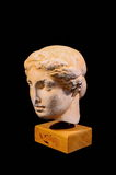 Head of the Ancient Greek Statue Isolated Royalty Free Stock Image