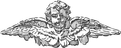 Head of an angel Stock Photography