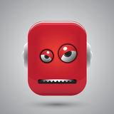 Head of the angry robot Royalty Free Stock Photography