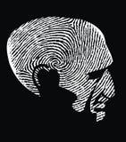 Head as fingerprint Royalty Free Stock Images