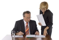 Head and assistant Royalty Free Stock Image