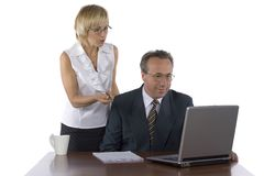 Head and assistant stock photography