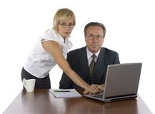 Head and assistant Royalty Free Stock Photography