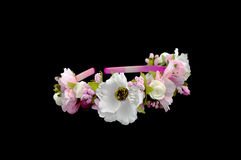 Head band decorated with flowers Stock Images