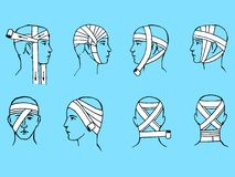 Head bandage Royalty Free Stock Images