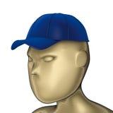Head Baseball blue cap vector illustration