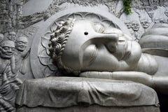 Head of big Buddha stock image