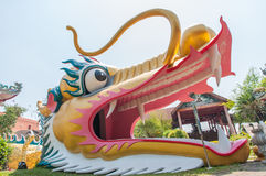 Head big golden dragon Stock Images
