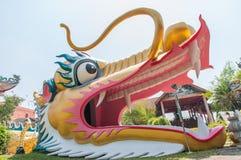 Head big golden dragon Stock Images