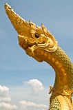 Head of big Naga statue Stock Photos