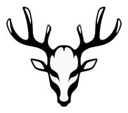 Head of a black deer Royalty Free Stock Images