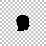 Head icon flat vector illustration