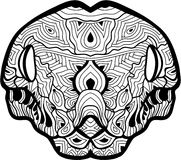 The head of a boa constrictor with patterns. Line art. Royalty Free Stock Photos