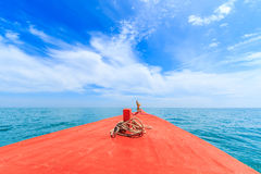 Head of boat in the sea Royalty Free Stock Image