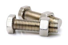 Head bolt and nut, stock photo