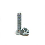 Head bolt and screw-nut Stock Photo