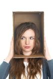 Head in box Stock Image