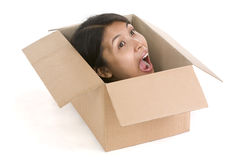 Head in box series - screaming Royalty Free Stock Photos