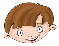 Head of the boy vector illustration