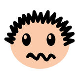 Head boy angry expression Stock Photo
