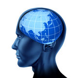 Head brain asia orient business man economist Royalty Free Stock Photography