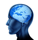 Head brain europe business man economist investor Royalty Free Stock Photo