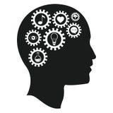 Head brain gears intelligence media Stock Photos